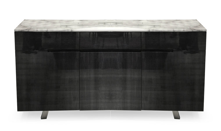 Luciana 160cm Grey with White Marble Top Marble Sideboard