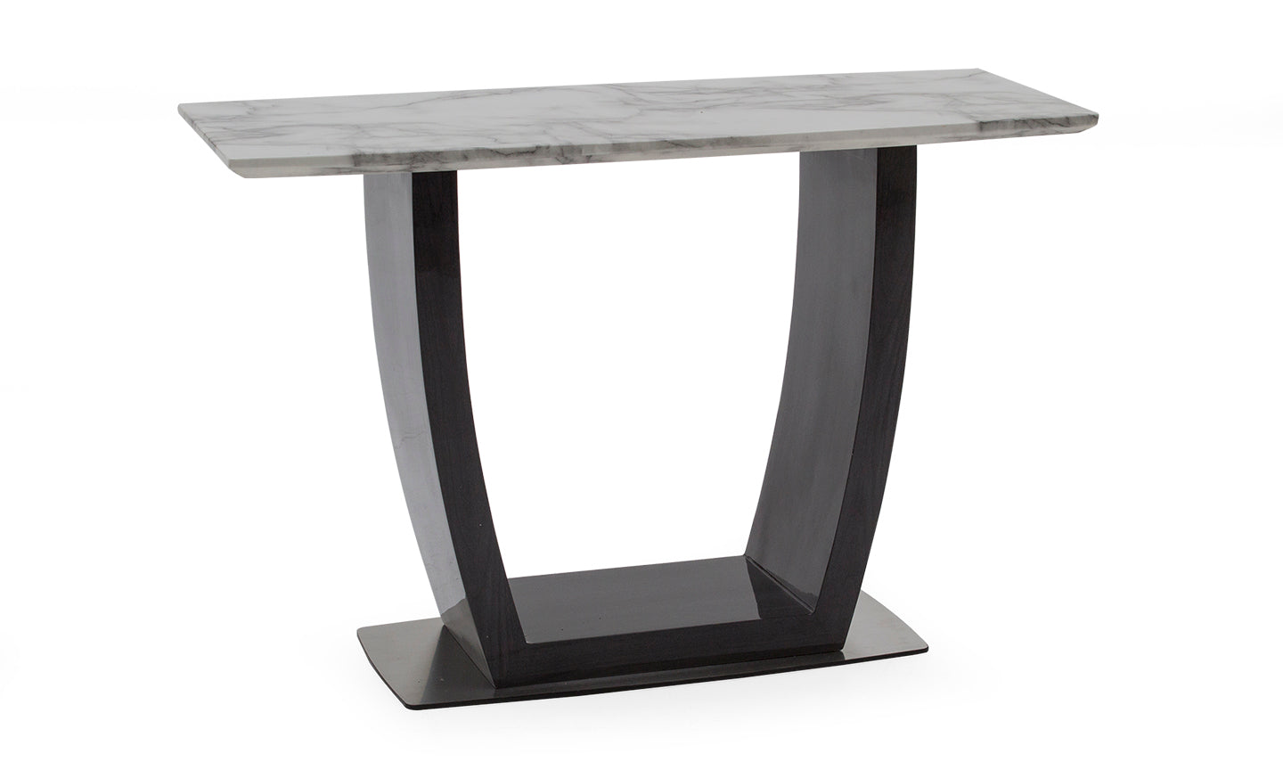Luciana 130cm Grey with White Marble Top Console Table - ImagineX Furniture & Interiors