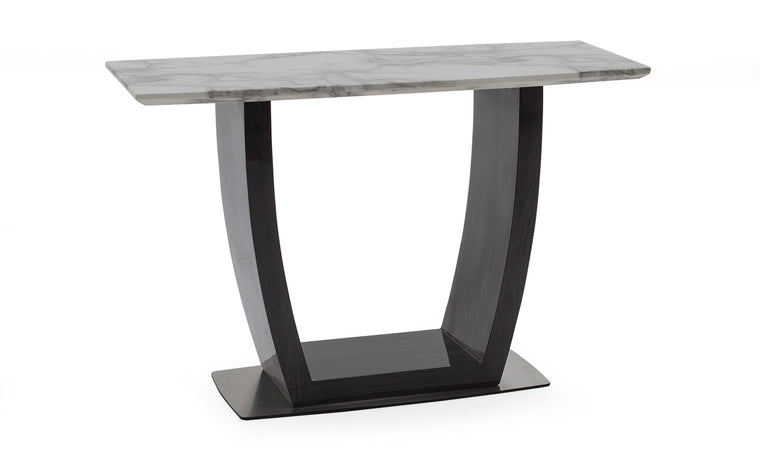 Luciana 130cm Grey with White Marble Top Console Table