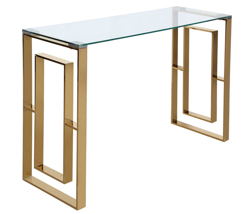 Value Ace Gold Metal Console Table - ImagineX Furniture & Interiors