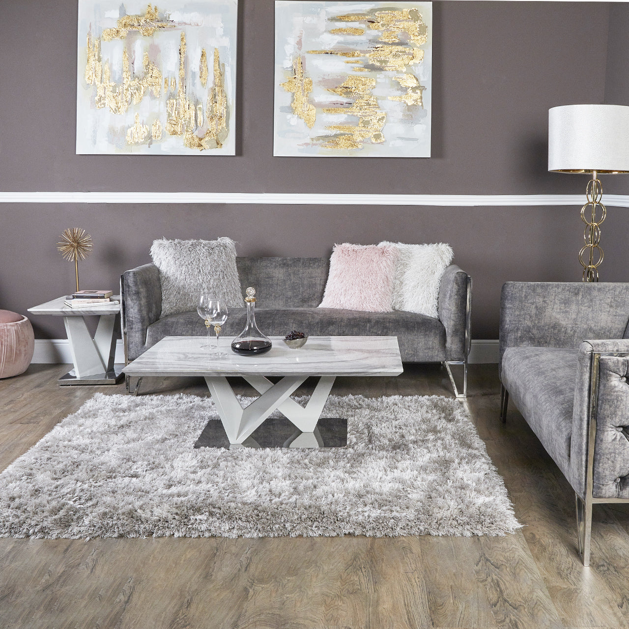 Aroma Marble Effect Coffee Table