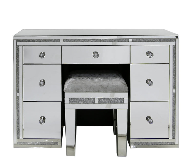 Milano Mirrored 7 Drawer Dressing Table