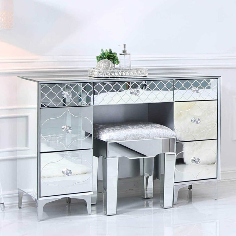 Sara Mirror Dressing Table Stool Only - ImagineX Furniture & Interiors