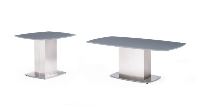 Olivia Grey Glass Coffee Table - ImagineX Furniture & Interiors