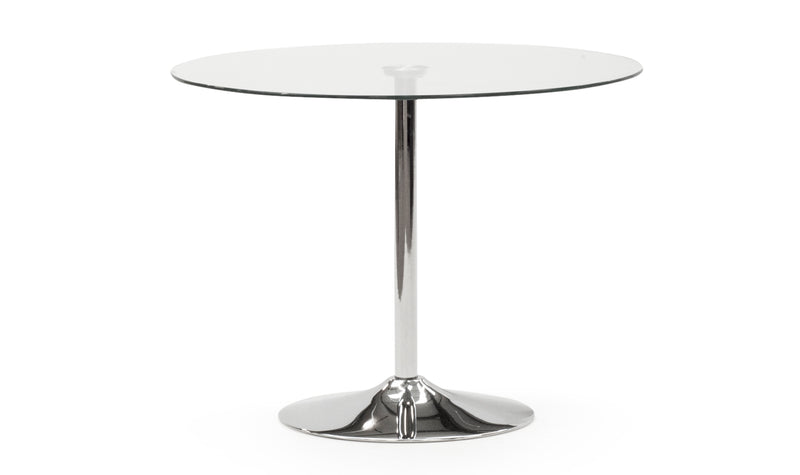 Orbit Clear Glass 100cm Dining Table - ImagineX Furniture & Interiors
