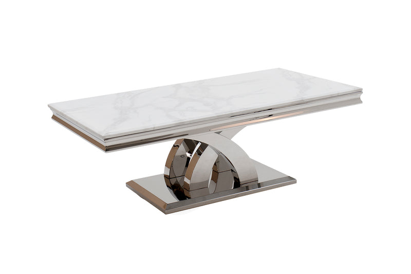 Ottavia Bone White Marble Coffee Table - ImagineX Furniture & Interiors