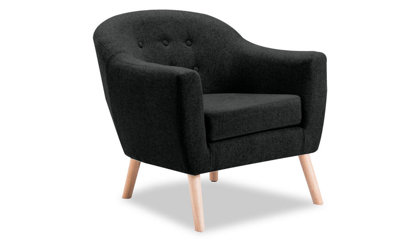 Perig Accent Chair - Charcoal - ImagineX Furniture & Interiors