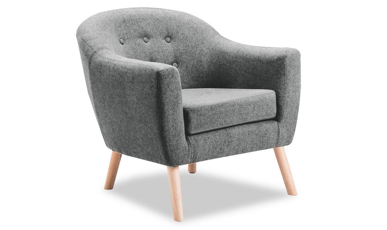 Perig Accent Chair - Light Grey