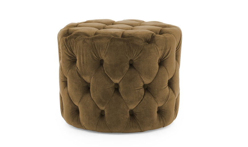Perkins Footstool - Velvet Cedar - ImagineX Furniture & Interiors