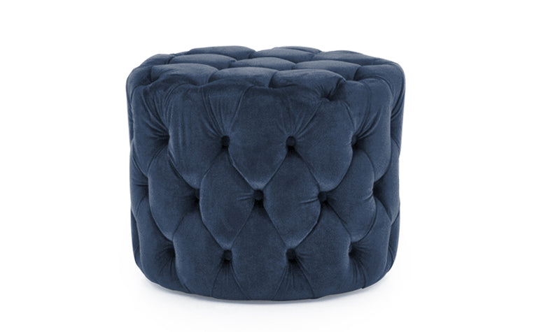 Perkins Footstool - Velvet Midnight - ImagineX Furniture & Interiors