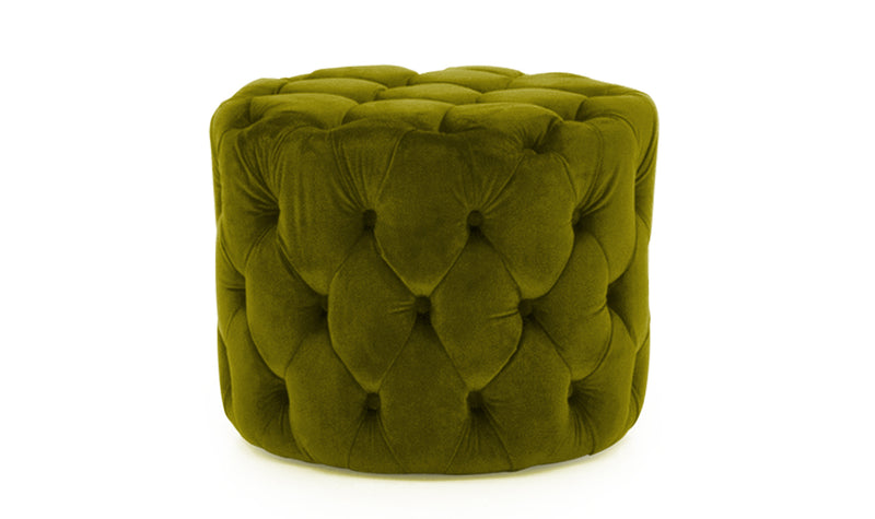 Perkins Footstool - Velvet Moss - ImagineX Furniture & Interiors