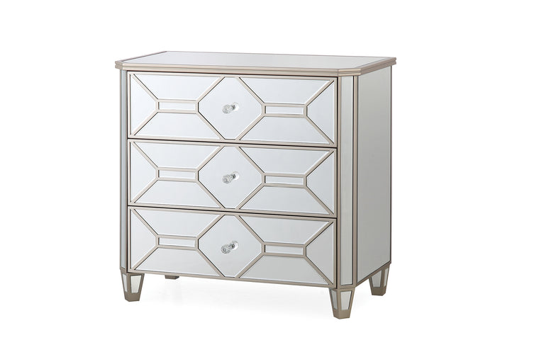 Rosa Mirror 3 Drawer Dressing Chest