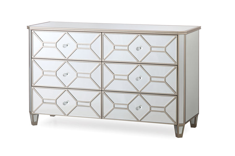 Rosa Mirror 6 Drawer Chest