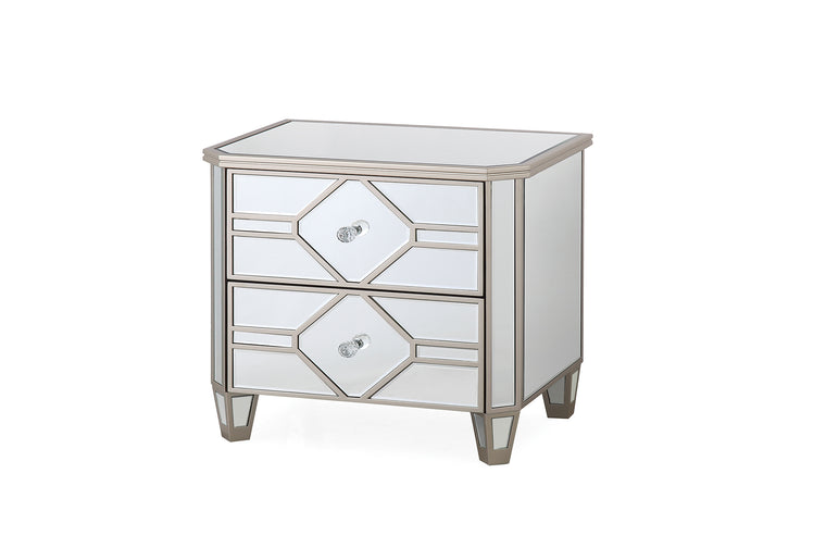 Rosa Mirror 2 Drawer Bedside Table