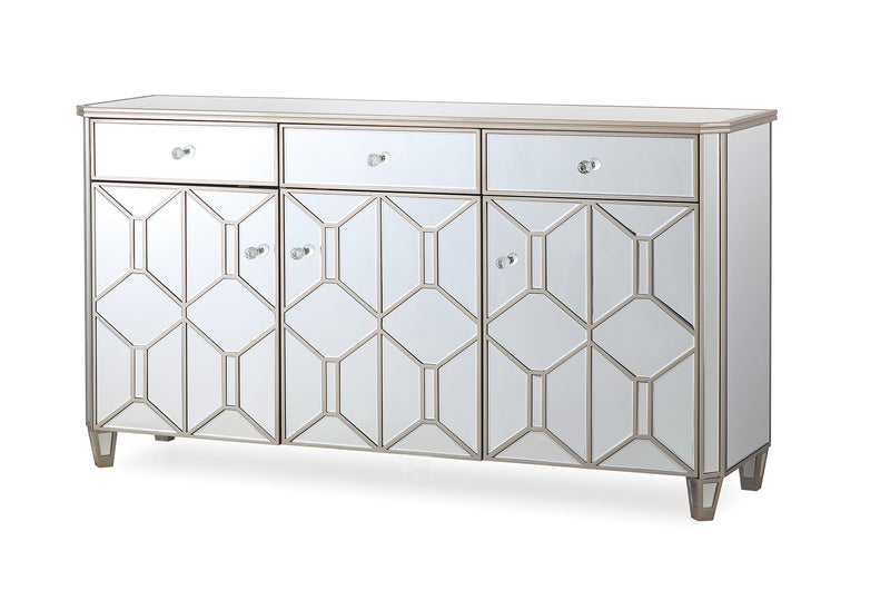 Rosa Mirror 3 Door 3 Drawer Sideboard - ImagineX Furniture & Interiors