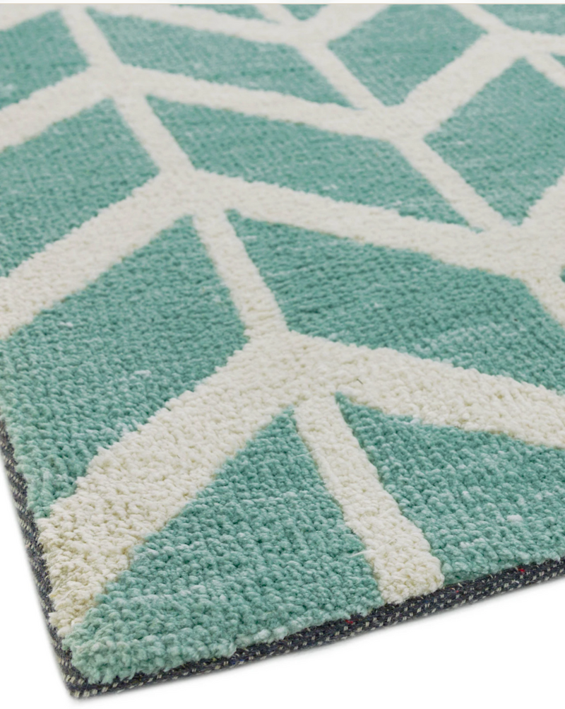Arlo Chevron Blue Rug - 4 Sizes Available - Modern Home Interiors