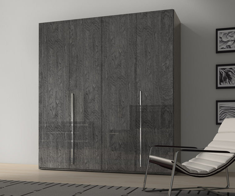 Sarah Grey Birch Italian 4 Door Wardrobe