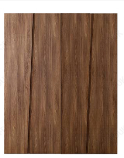 Storm Walnut Finish Italian 4 Door Wardrobe
