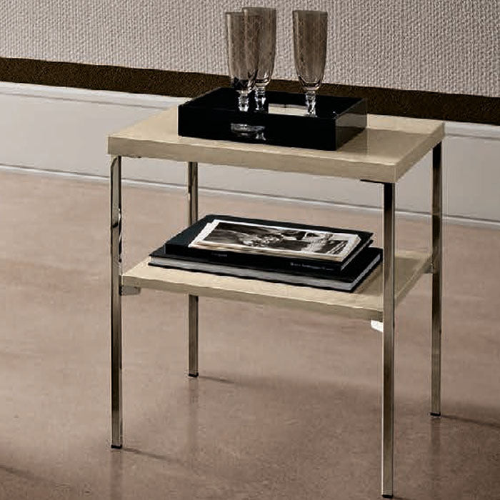 Ambra Sand Birch Finish Italian Lamp Table - ImagineX Furniture & Interiors