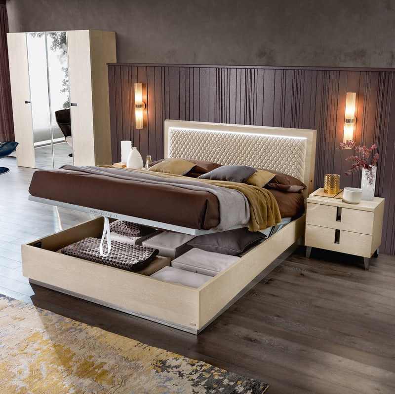 Ambra Silver Birch Finish Rombi Bed Frame - ImagineX Furniture & Interiors