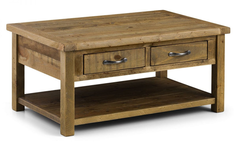 Julian Bowen Aspen Coffee Table with 2 Drawers - ImagineX Furniture & Interiors