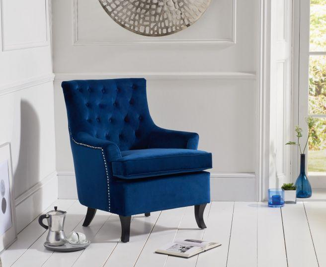 Barney Velvet Accent Chair