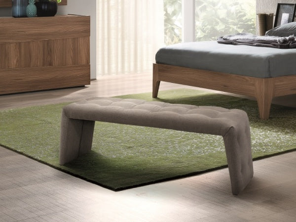 Storm Italian Bedroom Fabric Bench