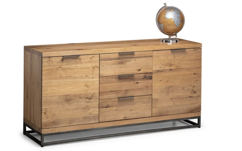 Julian Bowen Brooklyn Oak Sideboard - ImagineX Furniture & Interiors