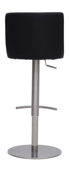 Bruno Black Leather Barstool - ImagineX Furniture & Interiors