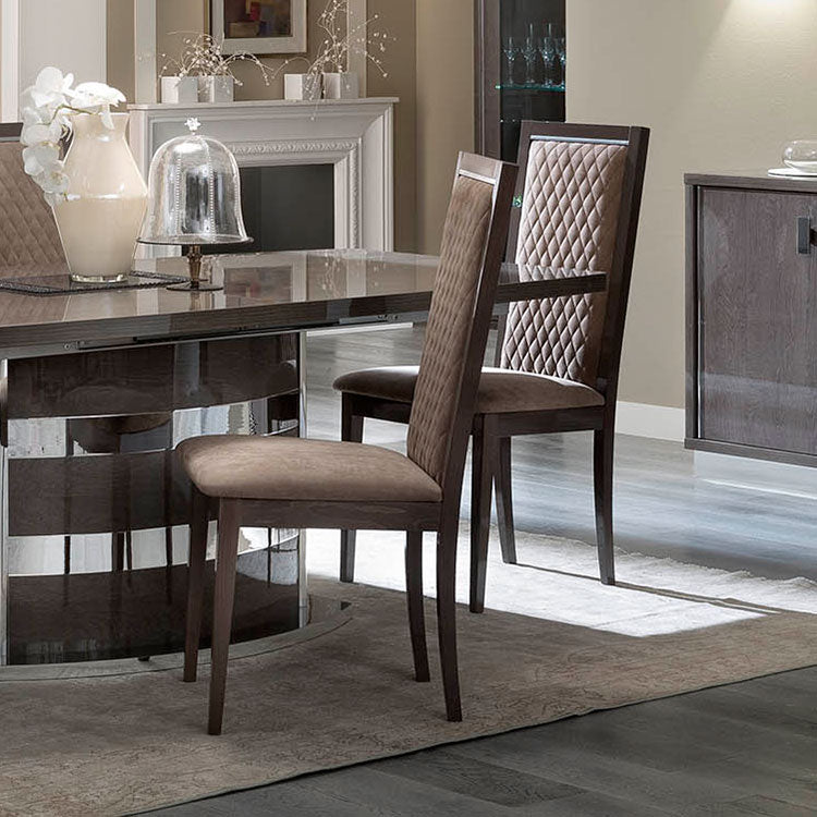 Platinum Day Silver Birch Finish Rombi Dining Chair