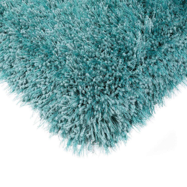 Cascade Cerulean Luxury Polyester Rug by Asiatic
