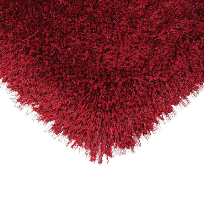 Cascade Ruby Luxury Polyester Rug by Asiatic