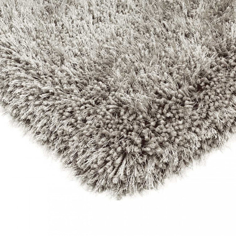 Cascade Silver Luxury Polyester Rug by Asiatic