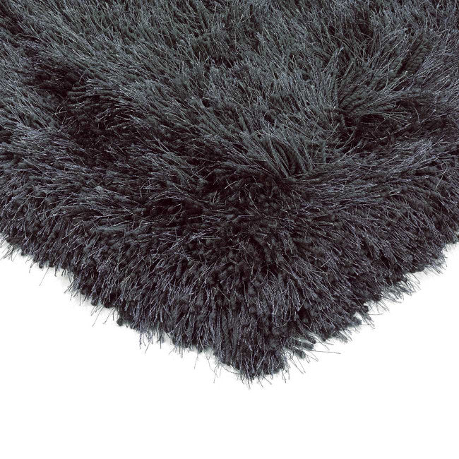 Cascade Slate Luxury Polyester Rug by Asiatic