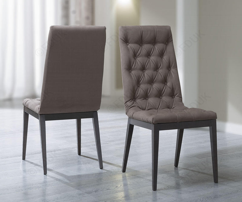 Platinum Day Silver Birch Finish Capitone Dining Chair - ImagineX Furniture & Interiors