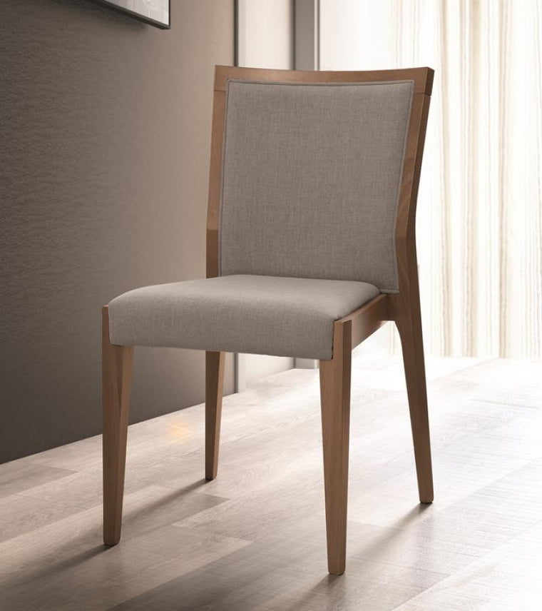 Storm Walnut Finish Italian Bedroom Chair