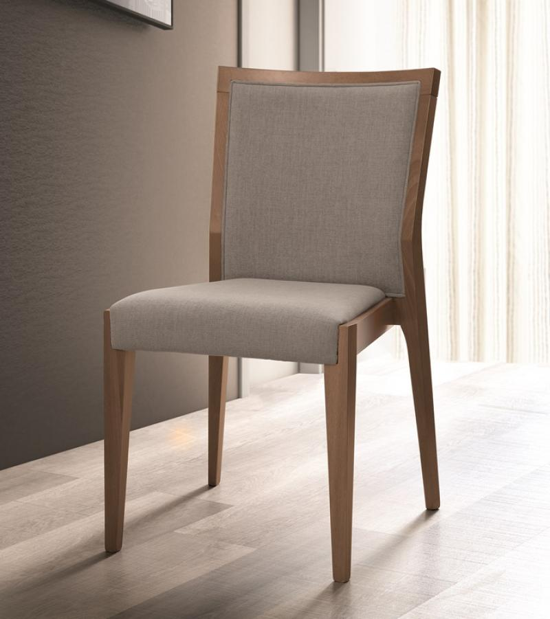 Storm Walnut Finish Italian Bedroom Chair - ImagineX Furniture & Interiors