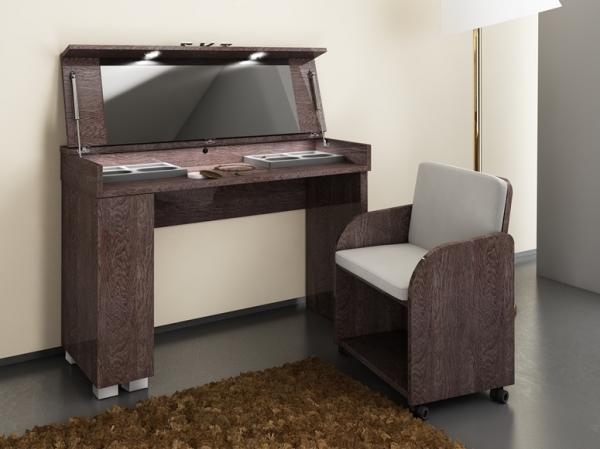 Prestige Umber Birch High Gloss Italian Dressing Table + Chair