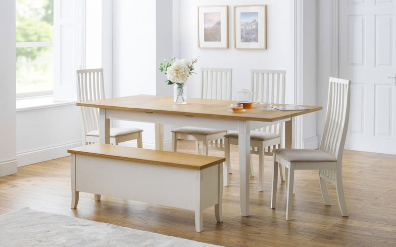 Julian Bowen Davenport Extending Rectangular Dining Set - ImagineX Furniture & Interiors