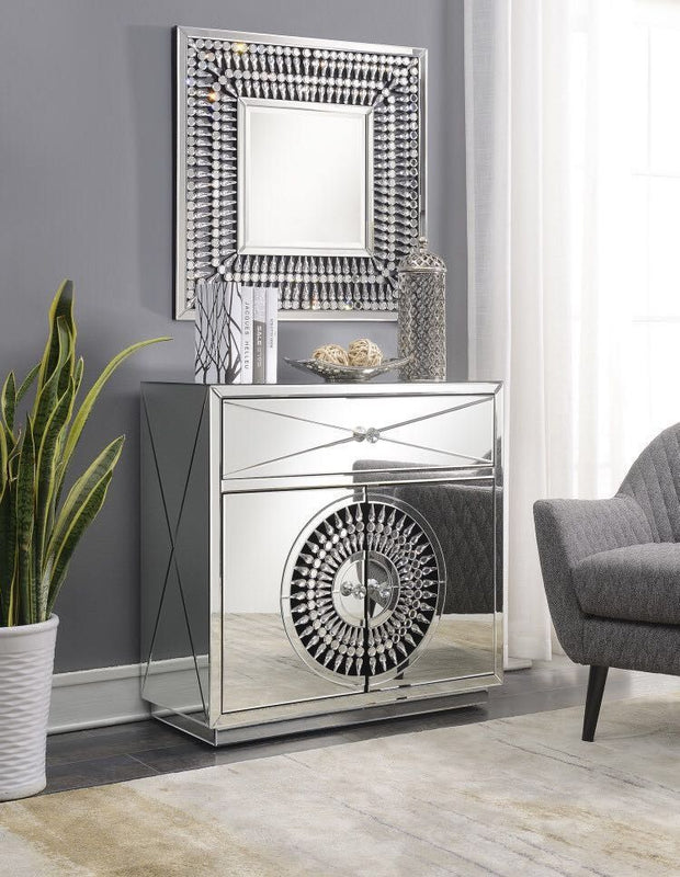 Crystal 2 Door 1 Drawer Chest - ImagineX Furniture & Interiors