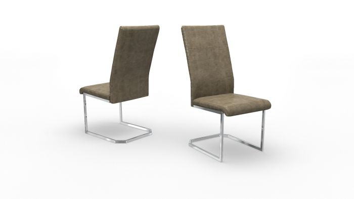 Diego Taupe Leather Dining Chair - ImagineX Furniture & Interiors