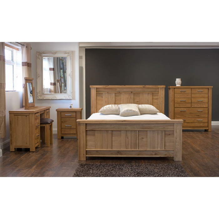 Di Marco Oak Double Pedestal Assembled Dressing Table - ImagineX Furniture & Interiors