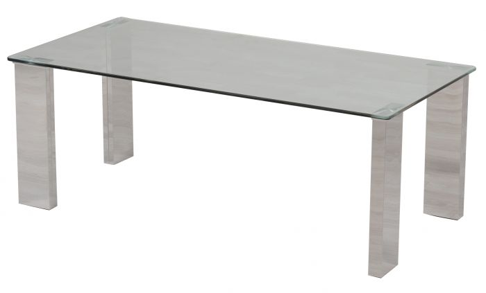 Dakota 130cm Clear Glass Coffee Table - ImagineX Furniture & Interiors