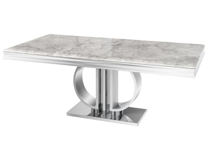 Torelli Donatello 180cm Grey Marble Dining Table - ImagineX Furniture & Interiors