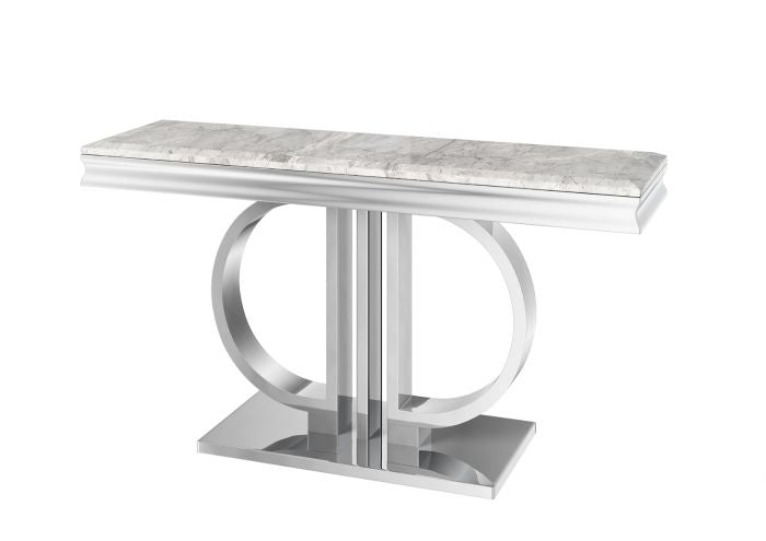 Torelli Donatello Grey 130cm Marble Console Table
