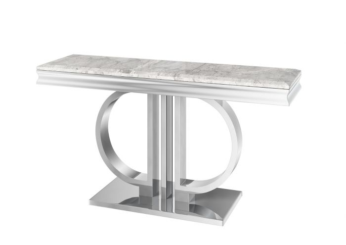 Torelli Donatello Grey 130cm Marble Console Table - ImagineX Furniture & Interiors