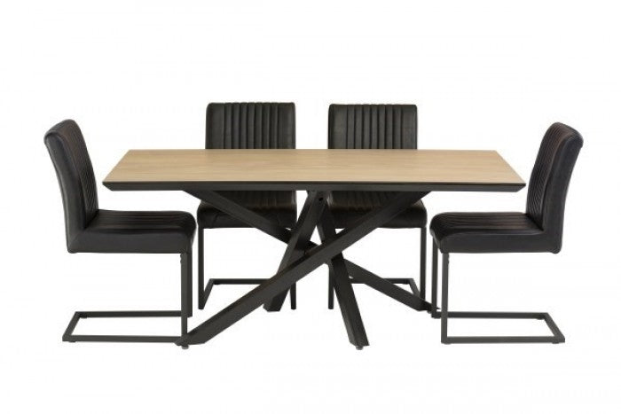 Granada 170cm Dining Table + 4 Raffles Chairs - ImagineX Furniture & Interiors