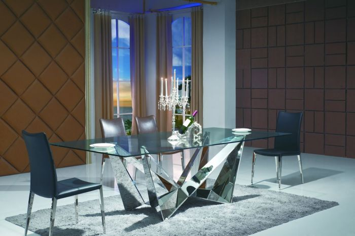 Florentina 200cm Glass Dining Table - ImagineX Furniture & Interiors
