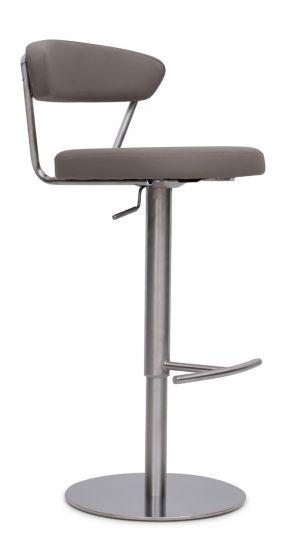 Gino Taupe Leather Barstool