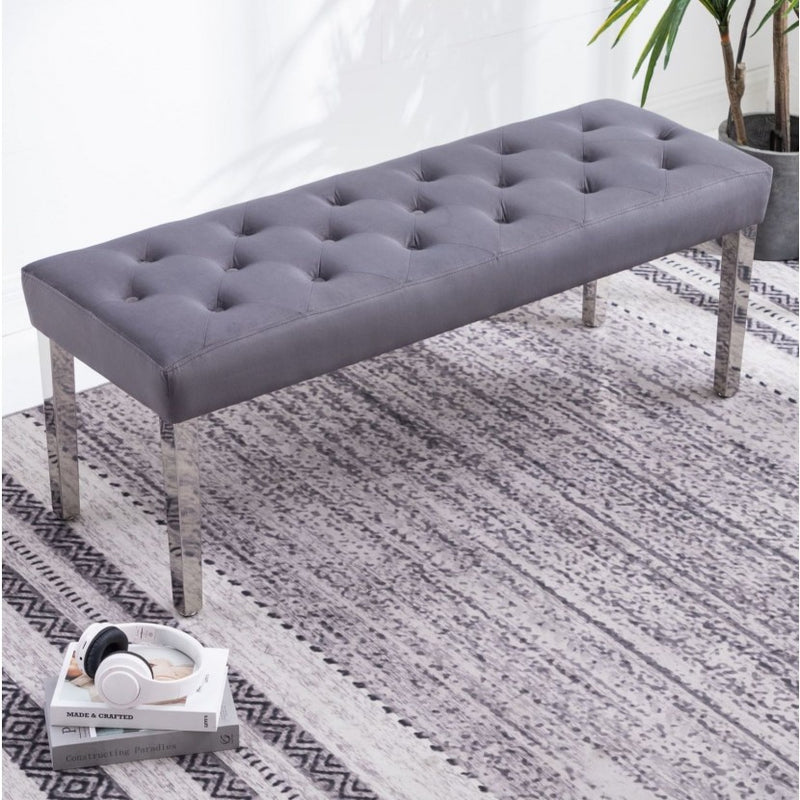 Louis 180cm Grey Marble Dining Table + Lion Knocker Plush Velvet Chairs + Bench - ImagineX Furniture & Interiors